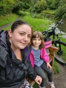 Mum and daughter bike ride